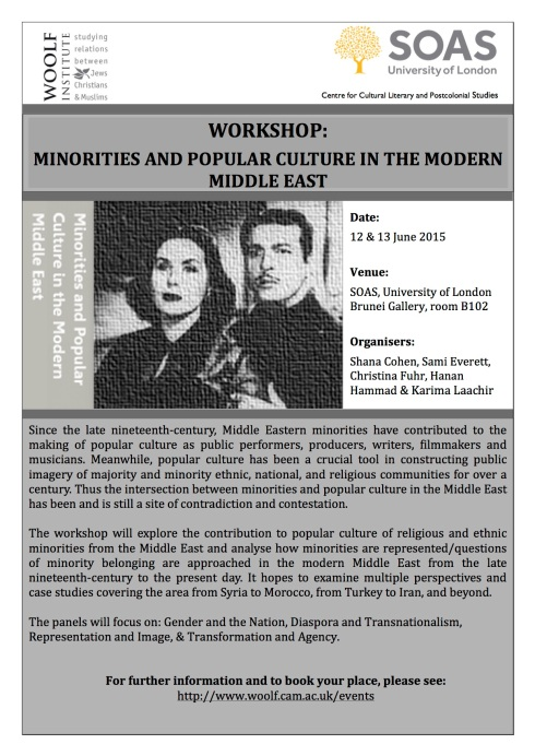 Flier Minorities and Popular Culture in Modern Middle East June 2015